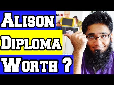 🙋Question: Is Alison Diploma and Alison Certificates Worth it ?
