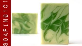 Feathered Mantra Swirl Soap {extra credit challenge #5}