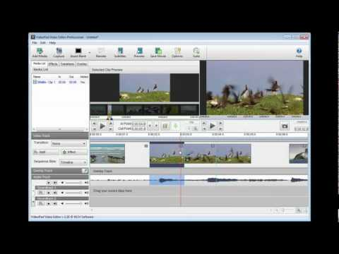 VideoPad Video Editing Software   Tutorial - Part 1
