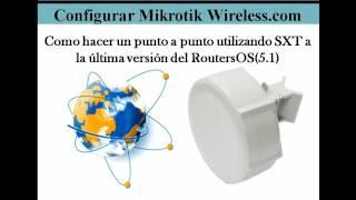 Configuracion Punto a Punto con SXT Mikrotik