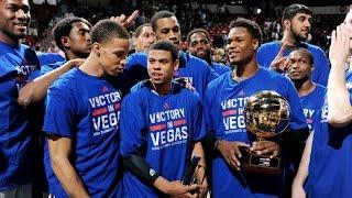 The Sacramento Kings win the 2014 Las Vegas NBA Summer League Championship!