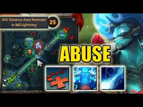 One Shot X Mark Abuse with Ball Lightning [Auto Static Remnant in Storm Ulti] Dota 2 Ability Draft