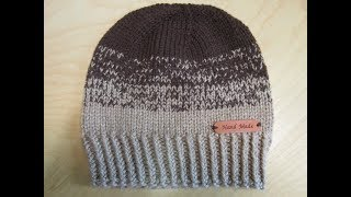 How to knit childrens hat Moka from 3 to 6 years old