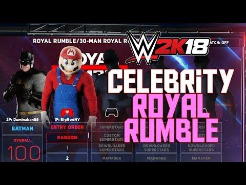 WWE 2K18 - 30 Man Celebrity Royal Rumble (WWE 2K18 Royal Rumble Full Match Funny Gameplay)