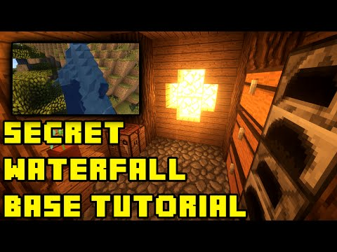 Minecraft: Quick easy Secret Hidden Waterfall Base House And Entrance Tutorial Xbox pe ps3 pc ps4 video