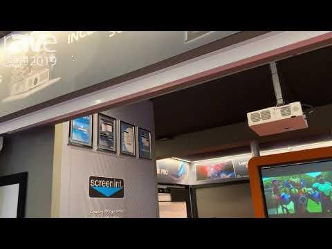 ISE 2019: Screenint Highlights Raffaello Tensioned Tension Projector Screen