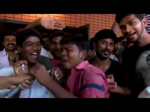 Actor Dhanush in Velai Illa pattathari (VIP) Full movie - Dhanus fans Gala Time First day first show