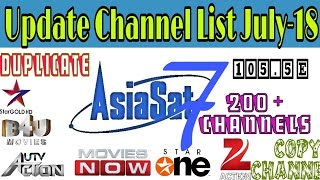 Asiasat 7 105.5°E Full Channel List July-2018|Updated Channel List|200+ Channels Available