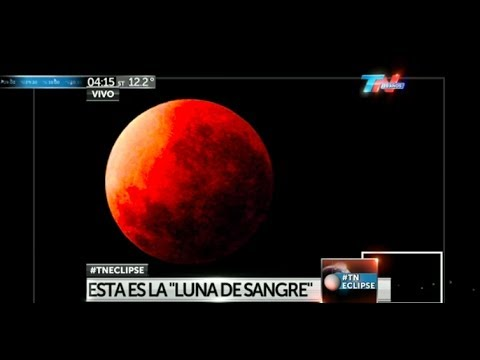 Eclipse Lunar, Argentina - 15/04/2014 (TN Vivo)