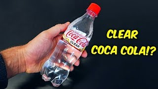 Clear Coca Cola Taste Test
