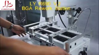 LY R690 V.2 BGA Rework Station,3 zones hot air,touch screen with laser point