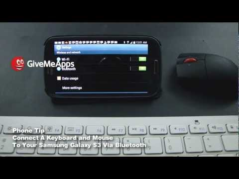Connect A Bluetooth Mouse & Keyboard To Your Samsung Galaxy S3 - GiveMeApps Phone Tip