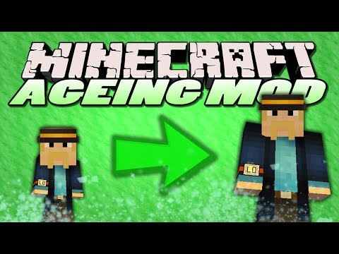 Minecraft Mods - Ageing Mod - GROW OLD AND DIE! (Minecraft Mod Showcase)