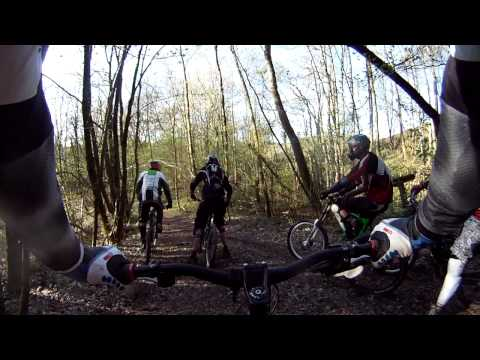 Downhill MTB run Ardennen
