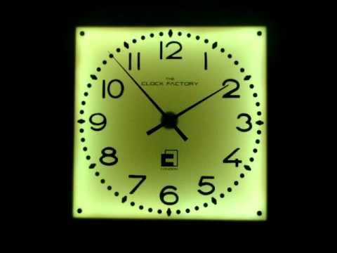 Giant Illuminated Wall Clock With Remote Controlled Colour