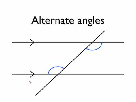 Angles In Parallel Lines Alternate Angles Youtube