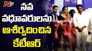 KTR Attends Saina Nehwal - Parupalli Kashyap Wedding Reception | NTV
