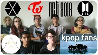 (26.4 MB) [REACT] Non-kpop fans react to (BTS, NCT, EXO and TWICE) | GHOST Mp3