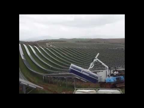 How To Clean Solar Panels >> Solar Clean, Solar PV Wash Machine. Fastest Way To Wash Large Solar Panel Arrays - YouTube
