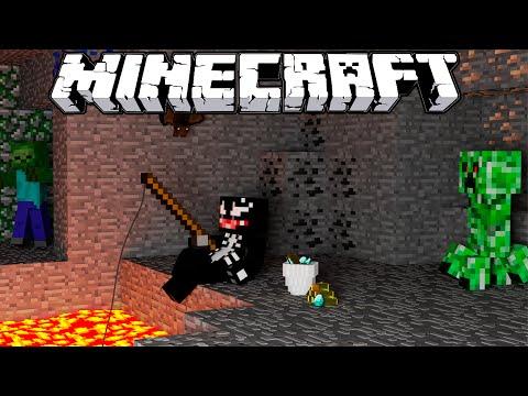 Primeira noite na Caverna do Medo - #1 Modo HARDCORE Minecraft