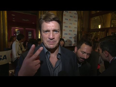 Nathan Fillion on the MUCH ADO ABOUT NOTHING red carpet