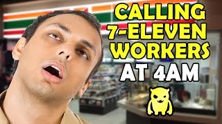Creepy Stranger Calls 7-Eleven Workers at 4AM - Ownage Pranks