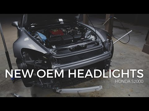 S2000 New OEM Headlights Install