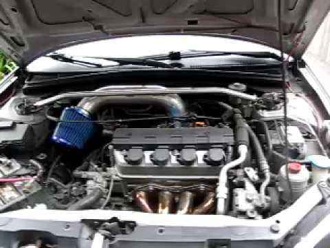 2001 honda civic lx megan headers short ram air intake ...
