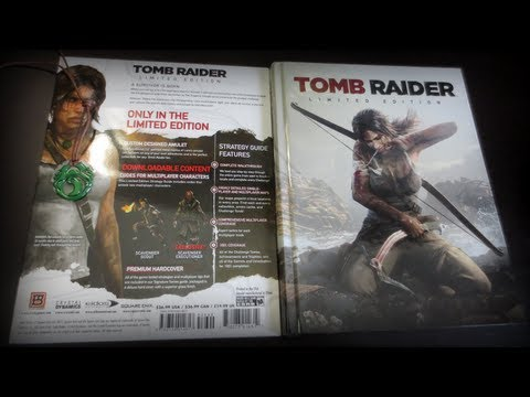 Tomb Raider (2013) Limited Edition Strategy Guide with Amulet Review Unboxing