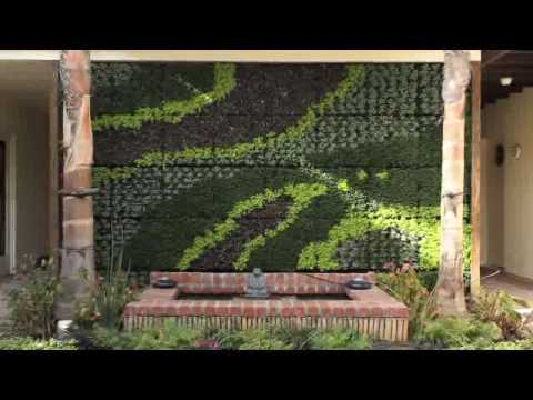Bright Green Living Wall Planter - YouTube