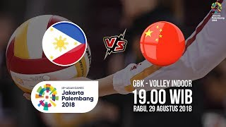 Jadwal Laga Perempat Final Bola Voli Putri Asian Games 2018, Filipina Vs China Pukul 19 00