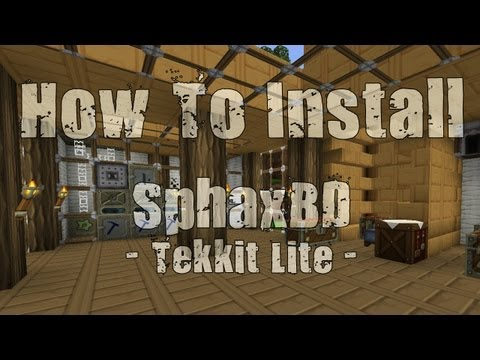 How To Install SphaxBD Texture Pack In Tekkit Lite!