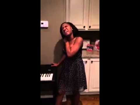 Young Sister Singing Traditional Gospel - I Thank You Jesus!