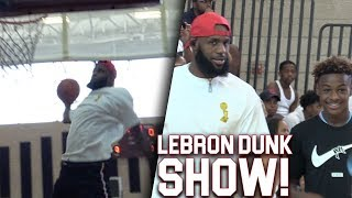 LeBron James INSANE DUNKS At His Sons Game! 7th GRADERS DUNK LIKE THE NBA!!