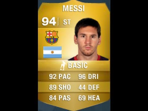 FIFA 14 MESSI 94 Player Review & In Game Stats Ultimate Team