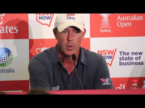 Richard Green post round 2 press conference Emirates Australian Open 2013