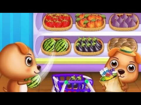 Sweet Puppy Supermarket Have fun at The Supermarket Educational and Best Game for Kids