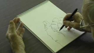 Drawing Demonstration-Continuous Line-Blind Contour