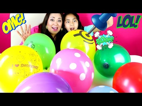 Balloons Surprise Explosion Shopkins Minions LPS Peppa Pig  B2cutecupcakes