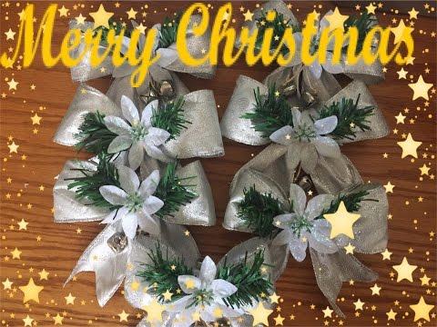 Manualidades Navideñas de Lazo para el arbol de Navidad.