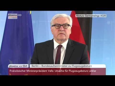 Flugzeugabsturz in Frankreich: Statement von Frank-Walter Steinmeier am 24.03.2015