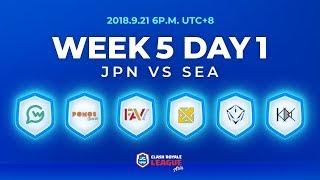 Clash Royale League Asia Season2 - Week 5 Day 1