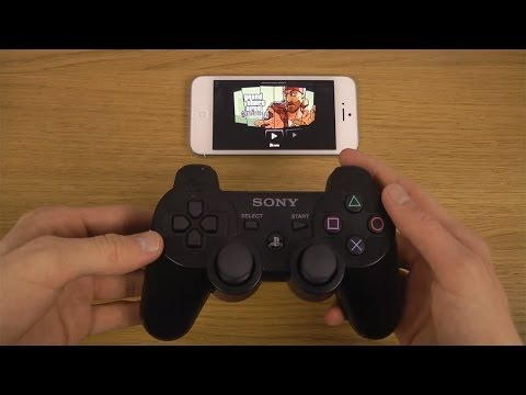 GTA San Andreas iPhone 5 iOS 7 PS3 Controller Wireless Gameplay