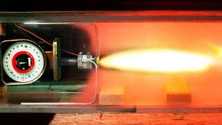 Rockets in a Vacuum Chamber - Newton's third law of motion Visualized