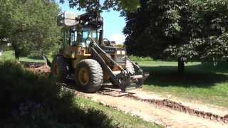 Volvo BM EL70 put back cable trenches at Tallunden 2013