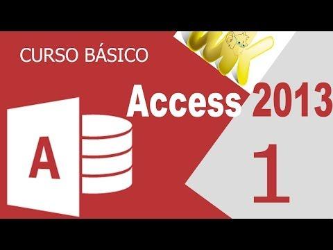 Microsoft Access 2013, Descarga e inicio, Curso basico español, cap 1