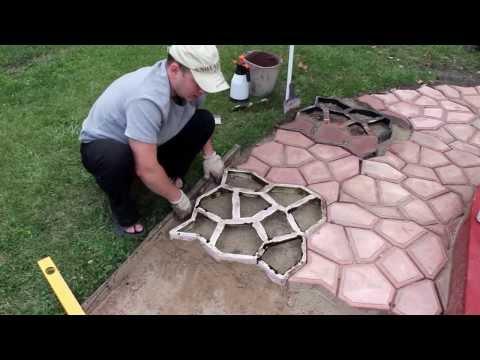 ЧАСТЬ 1: Садовая дорожка (тротуарная плитка) своими руками | PART 1: Handmade garden walkway