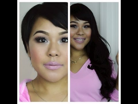 How to clip in hair extensions for very short hair/ MyPinkVanity and HairExtensi