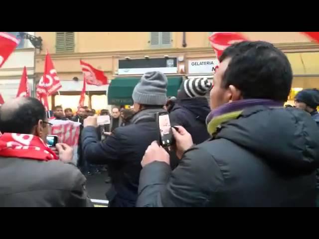 Parma 30/01 corteo a sostegno dei facchini della Bormioli /3