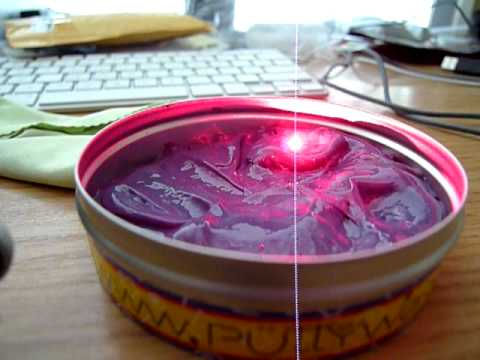 Fun with a laser and heat sensitive putty